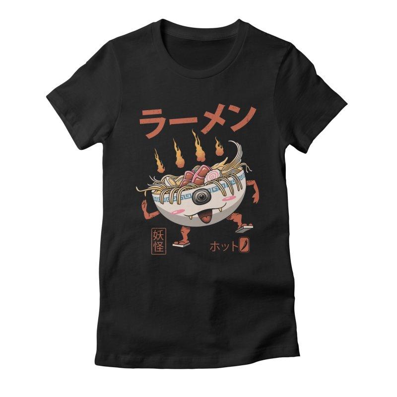 Yokai Ramen Women's Fitted T-Shirt by Vincent Trinidad