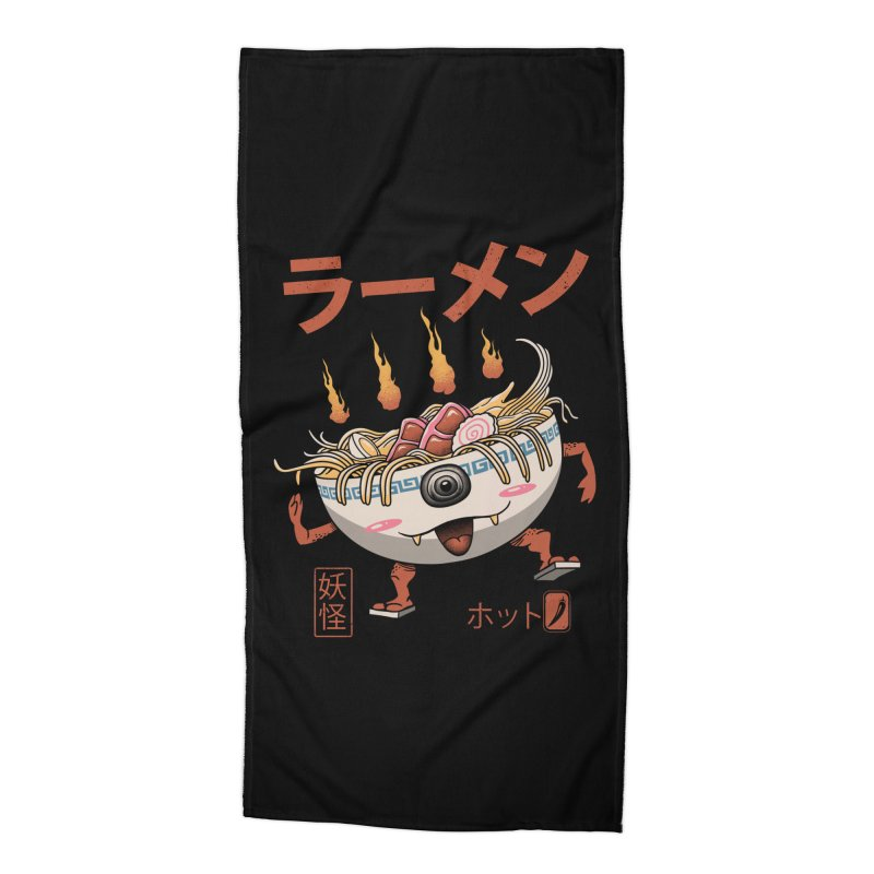 Yokai Ramen Accessories Beach Towel by vincenttrinidad's Artist Shop