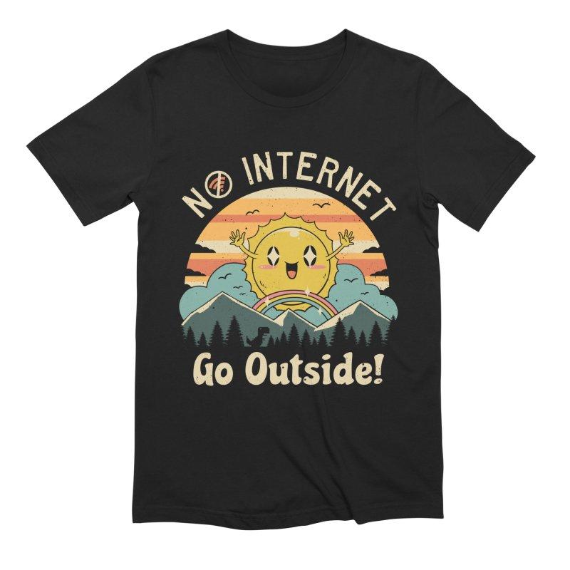 No Internet Vibes! Men's T-Shirt by vincenttrinidad's Artist Shop