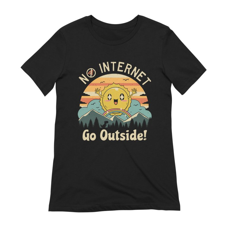 No Internet Vibes! Women's Extra Soft T-Shirt by vincenttrinidad's Artist Shop