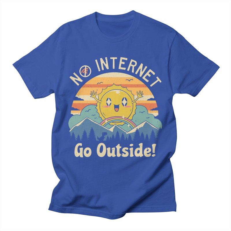 No Internet Vibes! Men's T-Shirt by Vincent Trinidad Art
