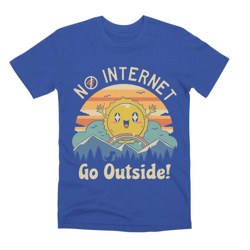 No Internet Vibes! Men's Premium T-Shirt by vincenttrinidad's Artist Shop