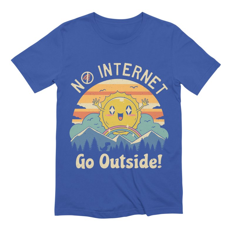 No Internet Vibes! Men's Extra Soft T-Shirt by Vincent Trinidad
