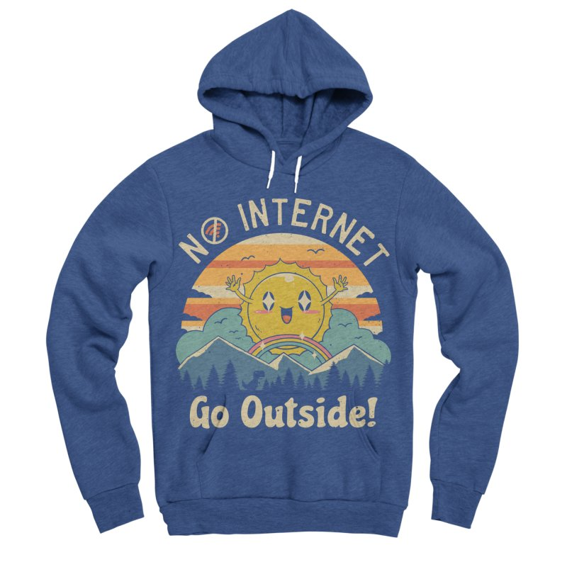No Internet Vibes! Women's Sponge Fleece Pullover Hoody by Vincent Trinidad
