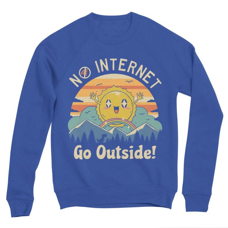 No Internet Vibes! Men's Sponge Fleece Sweatshirt by vincenttrinidad's Artist Shop