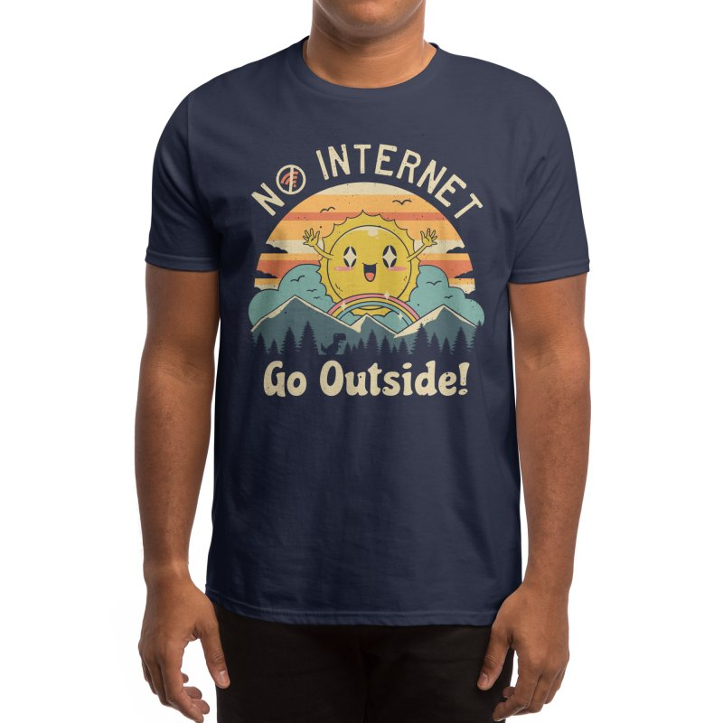 No Internet Vibes! Men's T-Shirt by Vincent Trinidad Art