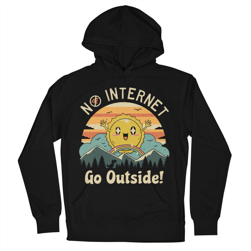 No Internet Vibes! Women's French Terry Pullover Hoody by Vincent Trinidad