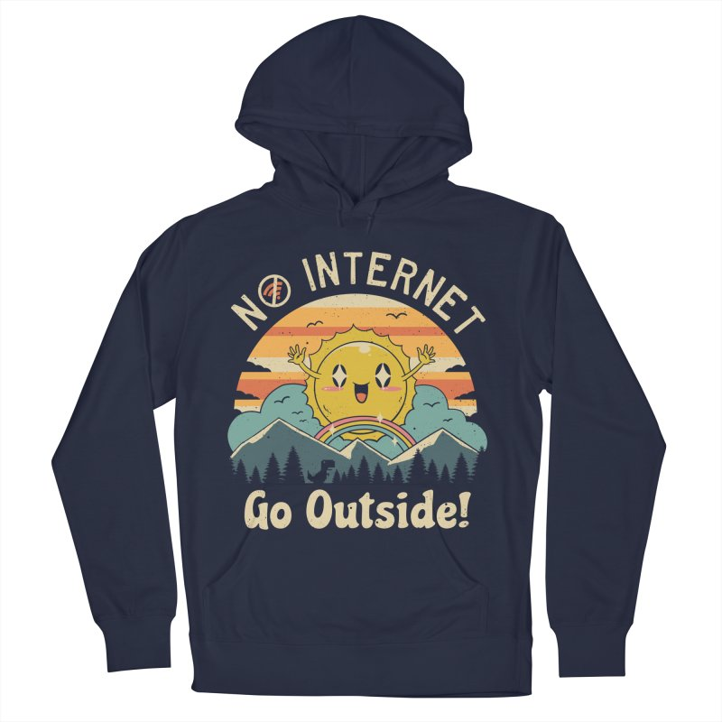 No Internet Vibes! Women's French Terry Pullover Hoody by vincenttrinidad's Artist Shop