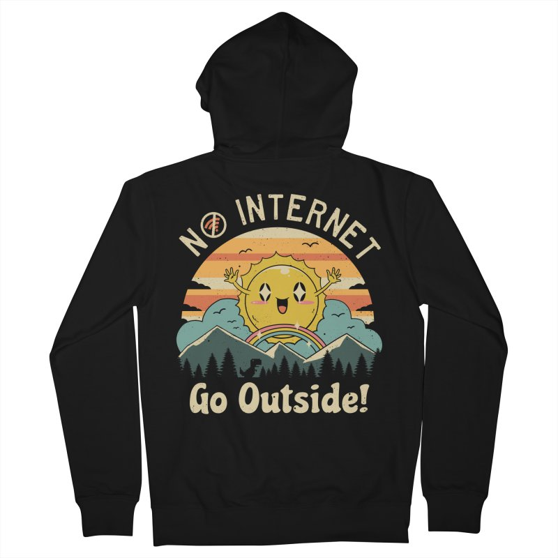 No Internet Vibes! Women's French Terry Zip-Up Hoody by Vincent Trinidad