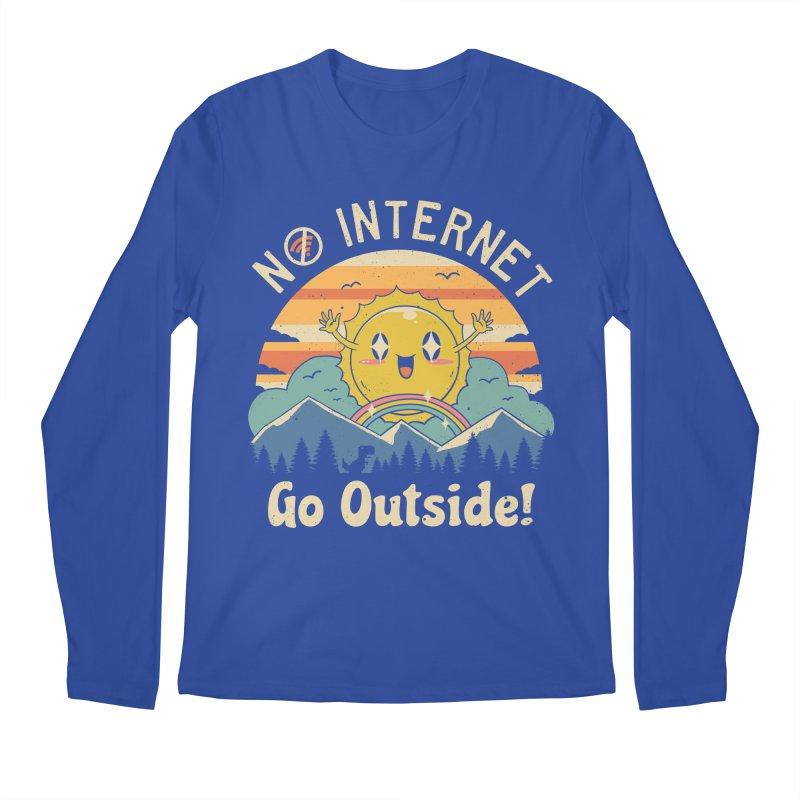No Internet Vibes! Men's Regular Longsleeve T-Shirt by Vincent Trinidad