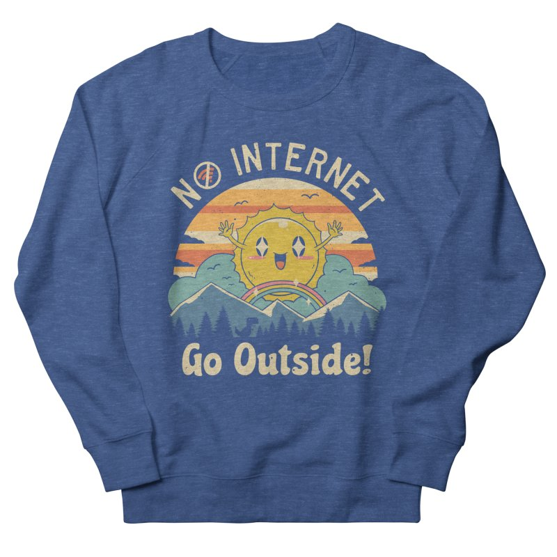 No Internet Vibes! Men's French Terry Sweatshirt by Vincent Trinidad