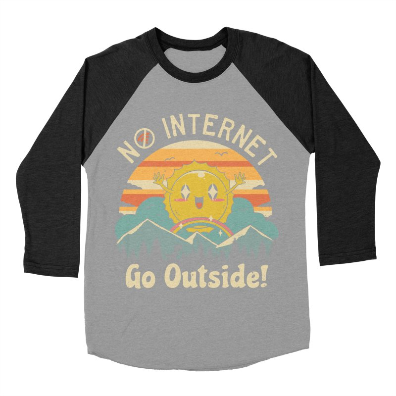No Internet Vibes! Women's Baseball Triblend Longsleeve T-Shirt by vincenttrinidad's Artist Shop