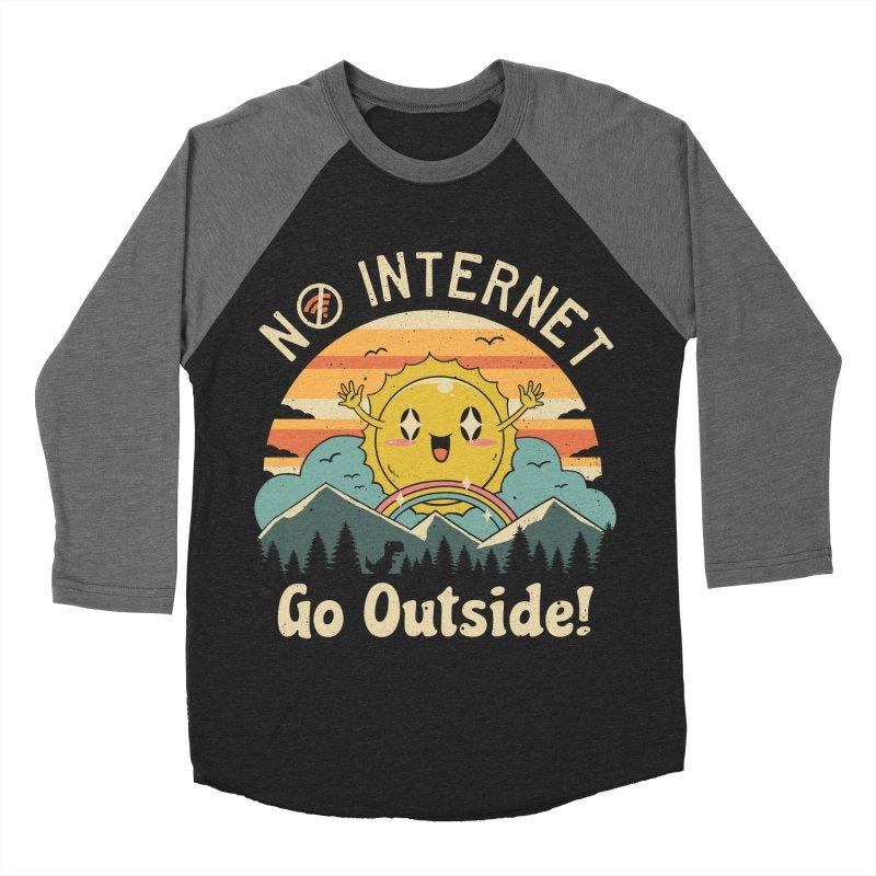 No Internet Vibes! Men's Baseball Triblend Longsleeve T-Shirt by Vincent Trinidad
