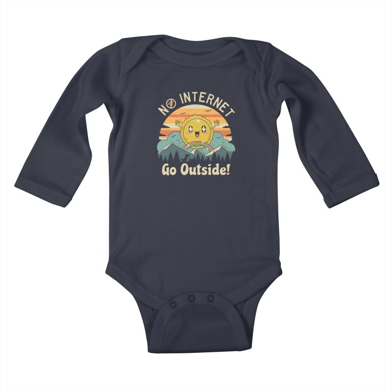 No Internet Vibes! Kids Baby Longsleeve Bodysuit by vincenttrinidad's Artist Shop