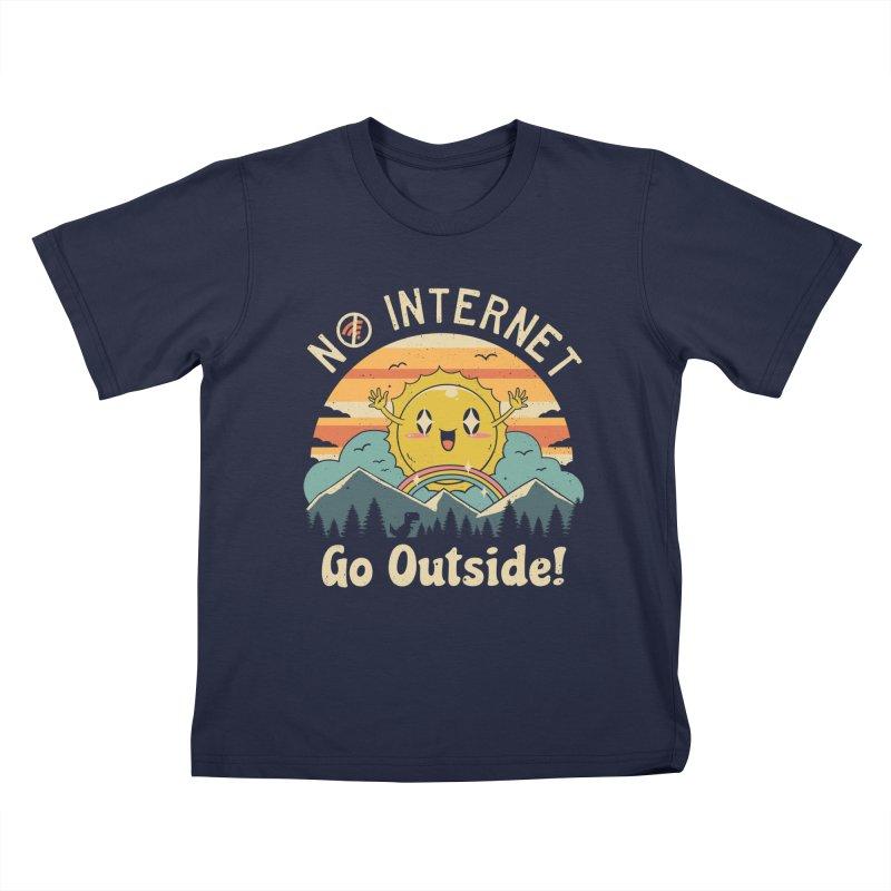 No Internet Vibes! Kids T-Shirt by Vincent Trinidad