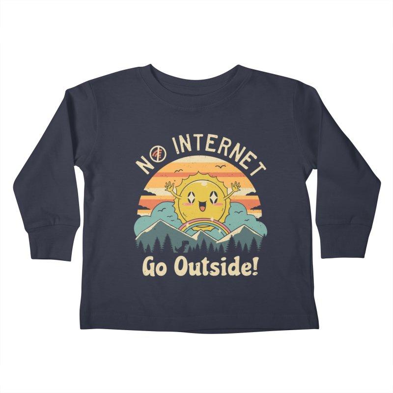 No Internet Vibes! Kids Toddler Longsleeve T-Shirt by vincenttrinidad's Artist Shop