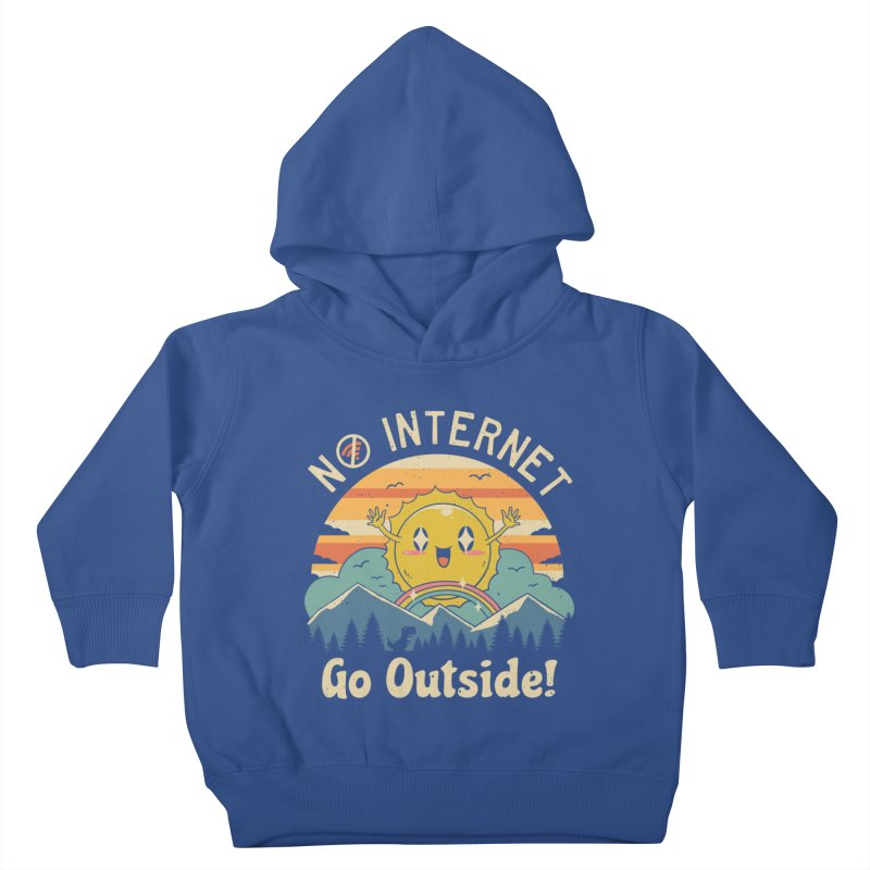 No Internet Vibes! Kids Toddler Pullover Hoody by Vincent Trinidad