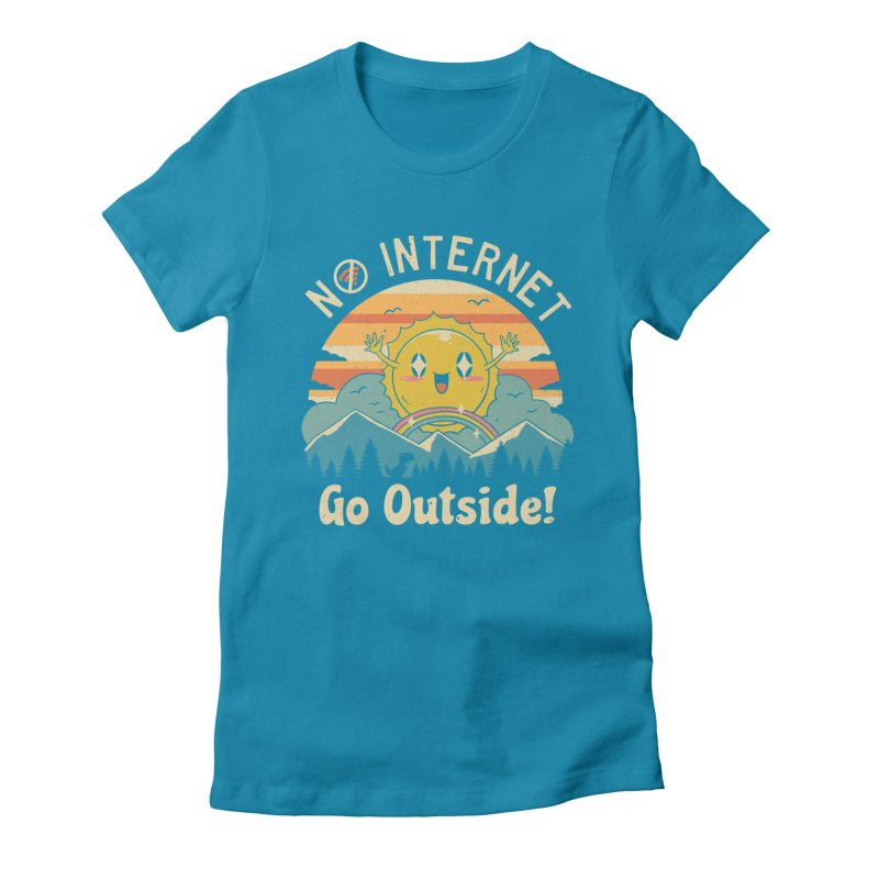 No Internet Vibes! Women's Fitted T-Shirt by Vincent Trinidad