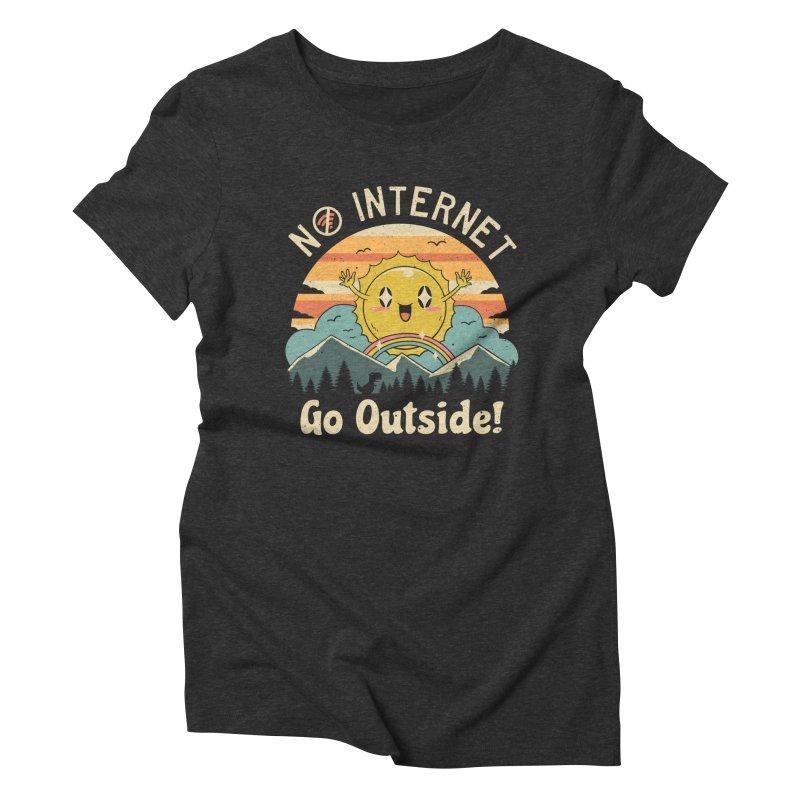 No Internet Vibes! Women's Triblend T-Shirt by vincenttrinidad's Artist Shop