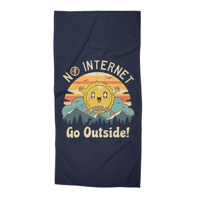 No Internet Vibes! Accessories Beach Towel by Vincent Trinidad