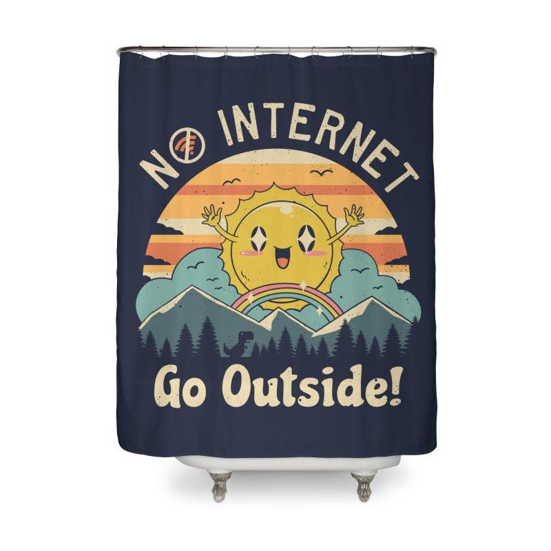 No Internet Vibes! Home Shower Curtain by vincenttrinidad's Artist Shop