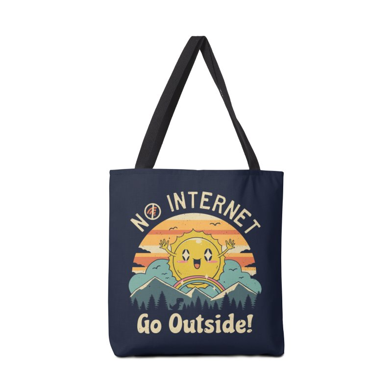 No Internet Vibes! Accessories Bag by Vincent Trinidad