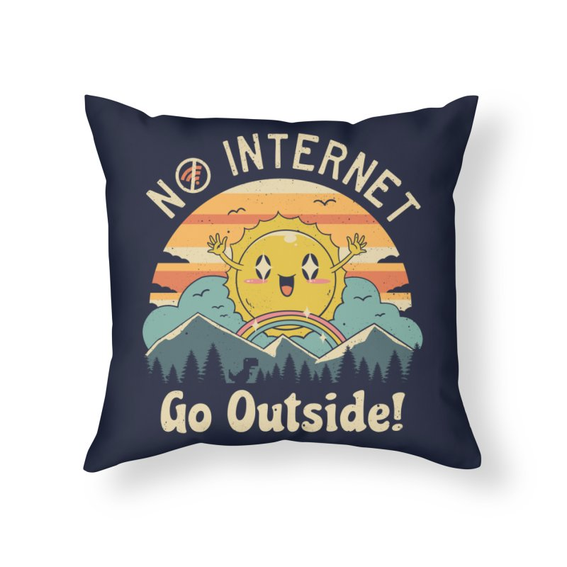 No Internet Vibes! Home Throw Pillow by vincenttrinidad's Artist Shop