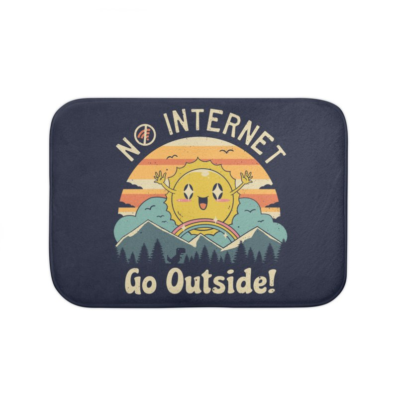 No Internet Vibes! Home Bath Mat by Vincent Trinidad