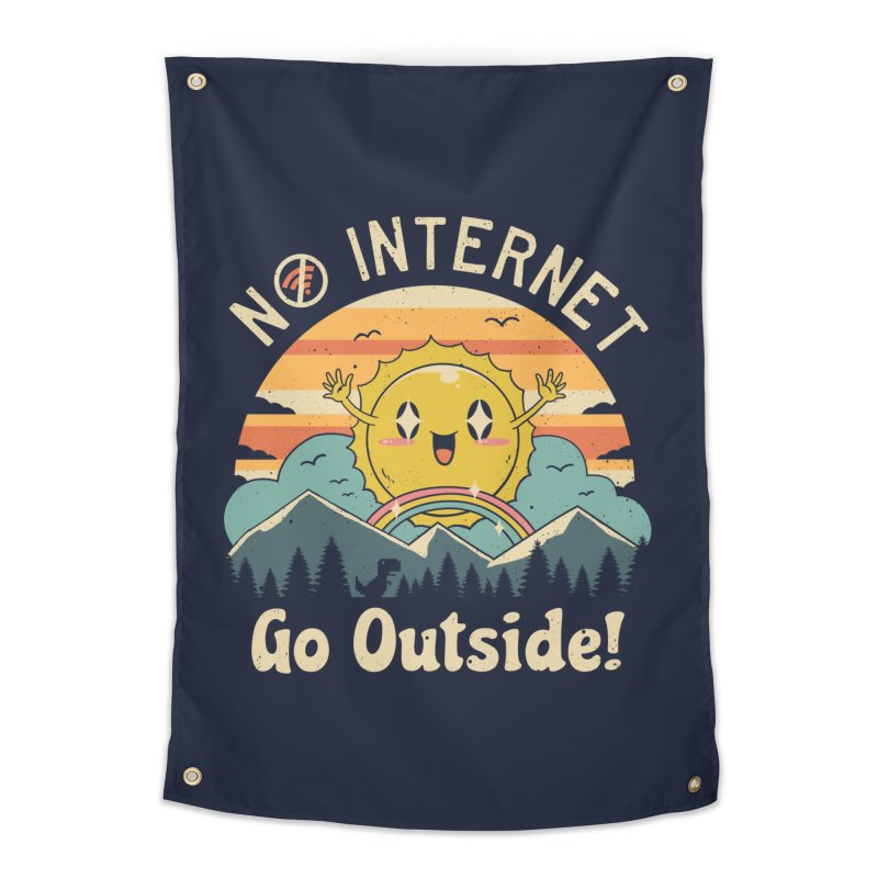 No Internet Vibes! Home Tapestry by Vincent Trinidad