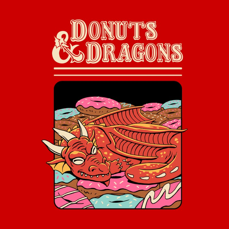 Donuts and Dragons Men's T-Shirt by Vincent Trinidad Art