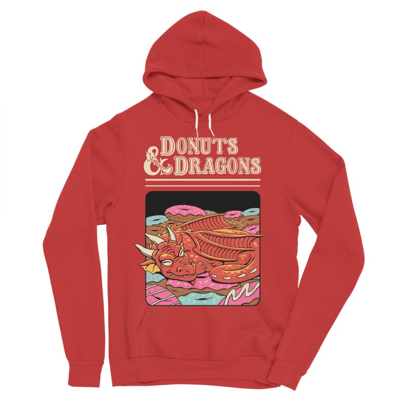 Donuts and Dragons Women's Sponge Fleece Pullover Hoody by Vincent Trinidad