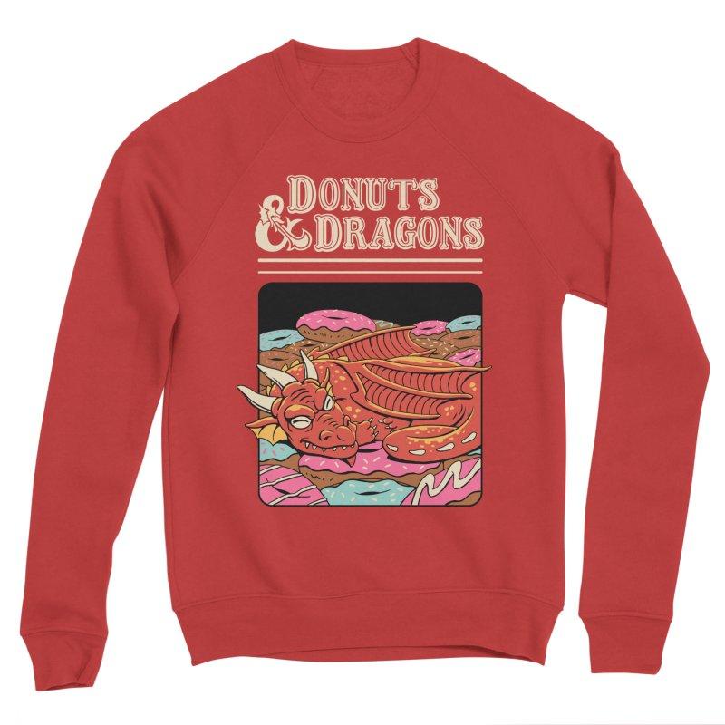 Donuts and Dragons Men's Sponge Fleece Sweatshirt by vincenttrinidad's Artist Shop