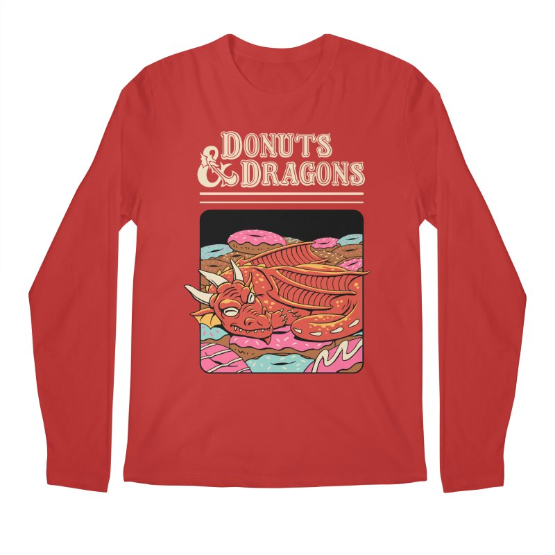 Donuts and Dragons Men's Regular Longsleeve T-Shirt by Vincent Trinidad
