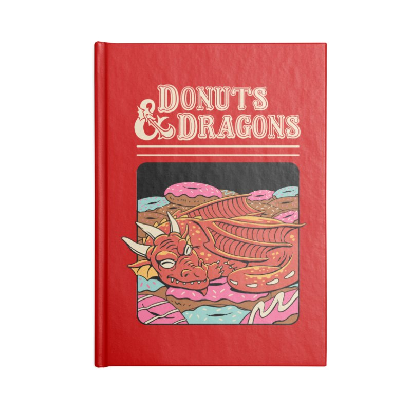 Donuts and Dragons Accessories Notebook by vincenttrinidad's Artist Shop