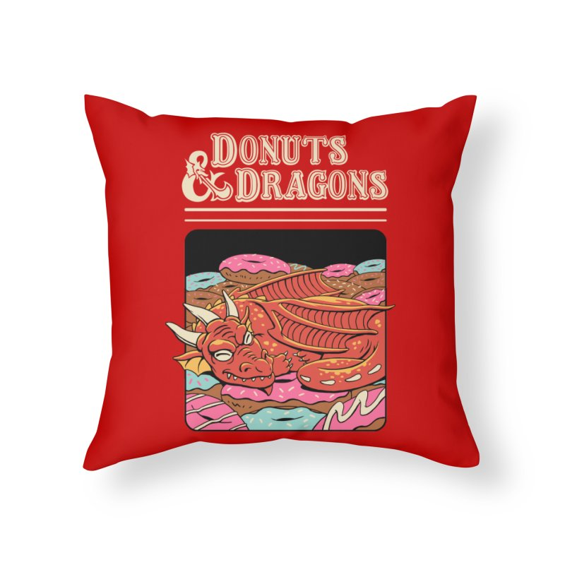 Donuts and Dragons Home Throw Pillow by vincenttrinidad's Artist Shop