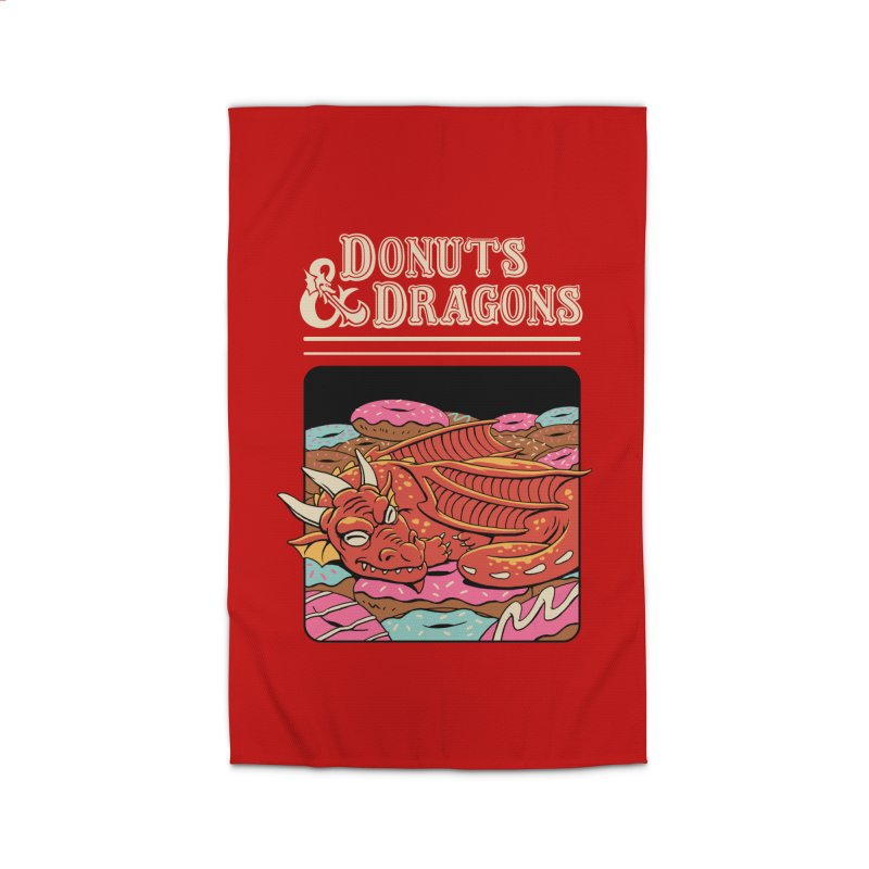 Donuts and Dragons Home Rug by vincenttrinidad's Artist Shop