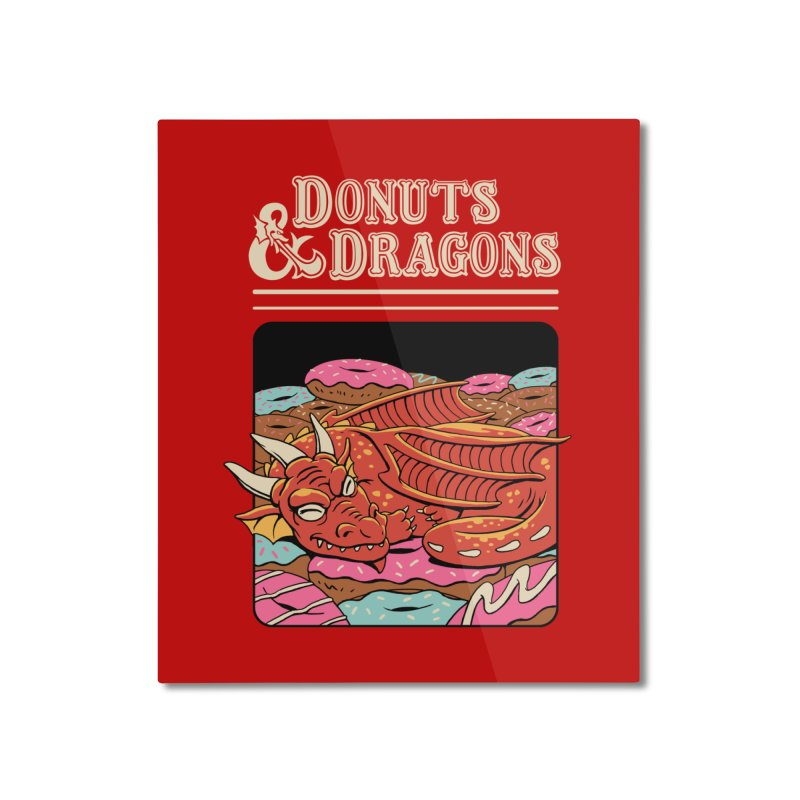 Donuts and Dragons Home Mounted Aluminum Print by vincenttrinidad's Artist Shop