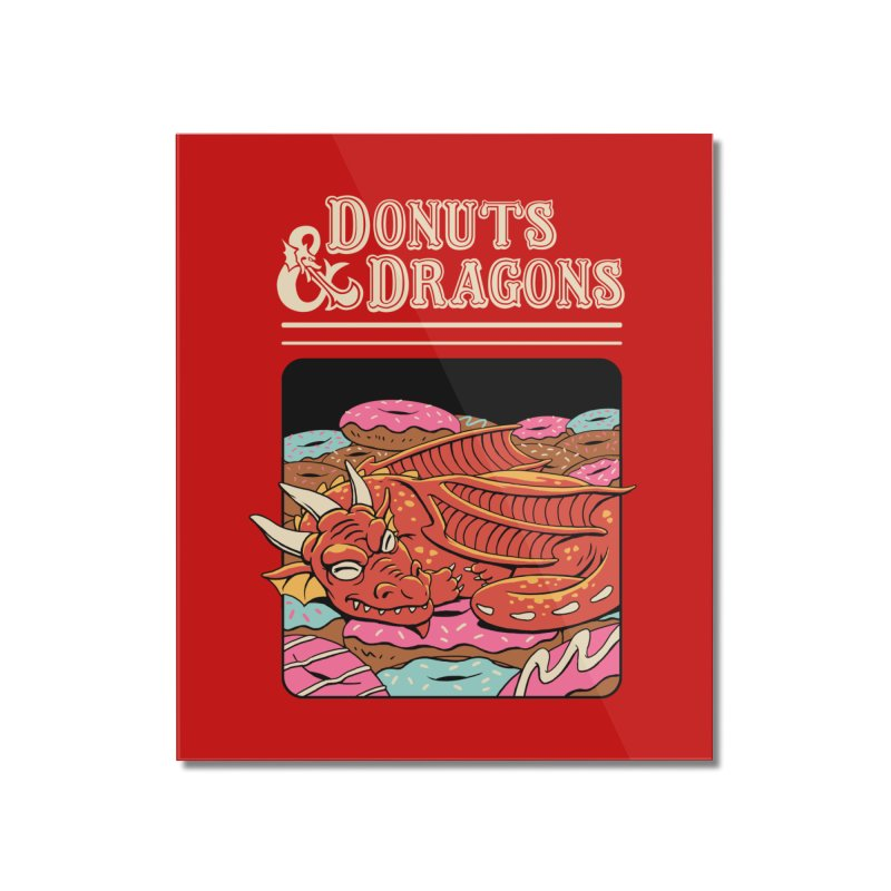 Donuts and Dragons Home Mounted Acrylic Print by vincenttrinidad's Artist Shop
