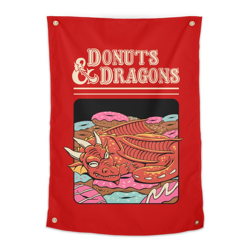 Donuts and Dragons Home Tapestry by Vincent Trinidad
