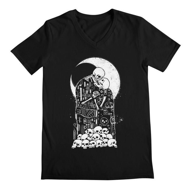The Kiss of Death Men's Regular V-Neck by Vincent Trinidad