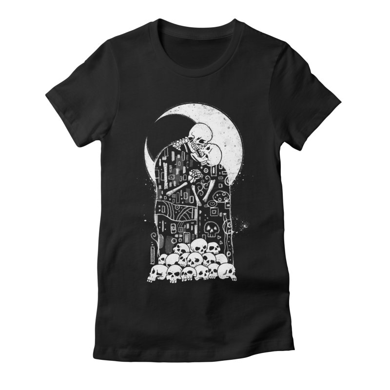 The Kiss of Death Women's Fitted T-Shirt by Vincent Trinidad
