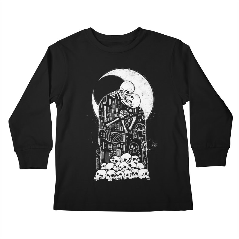 The Kiss of Death Kids Longsleeve T-Shirt by Vincent Trinidad