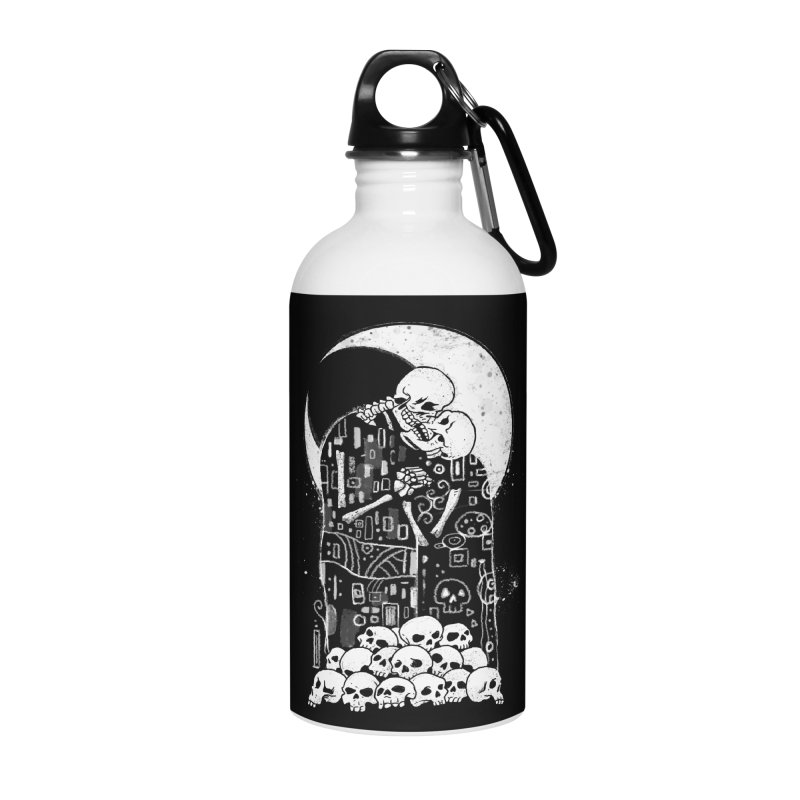 The Kiss of Death Accessories Water Bottle by Vincent Trinidad