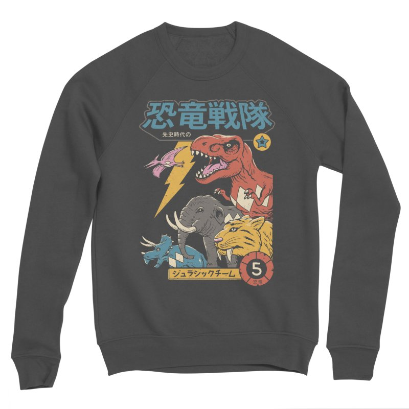 Dino Sentai Women's Sponge Fleece Sweatshirt by Vincent Trinidad