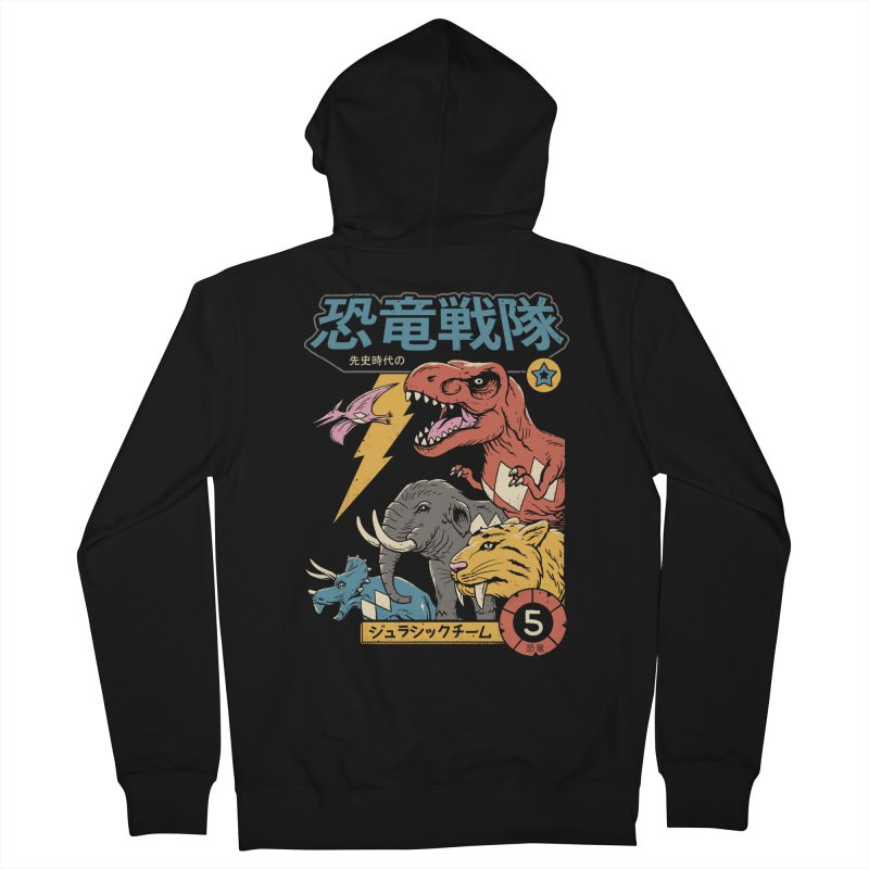 Dino Sentai Men's French Terry Zip-Up Hoody by Vincent Trinidad Art