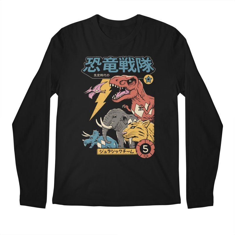 Dino Sentai Men's Regular Longsleeve T-Shirt by Vincent Trinidad