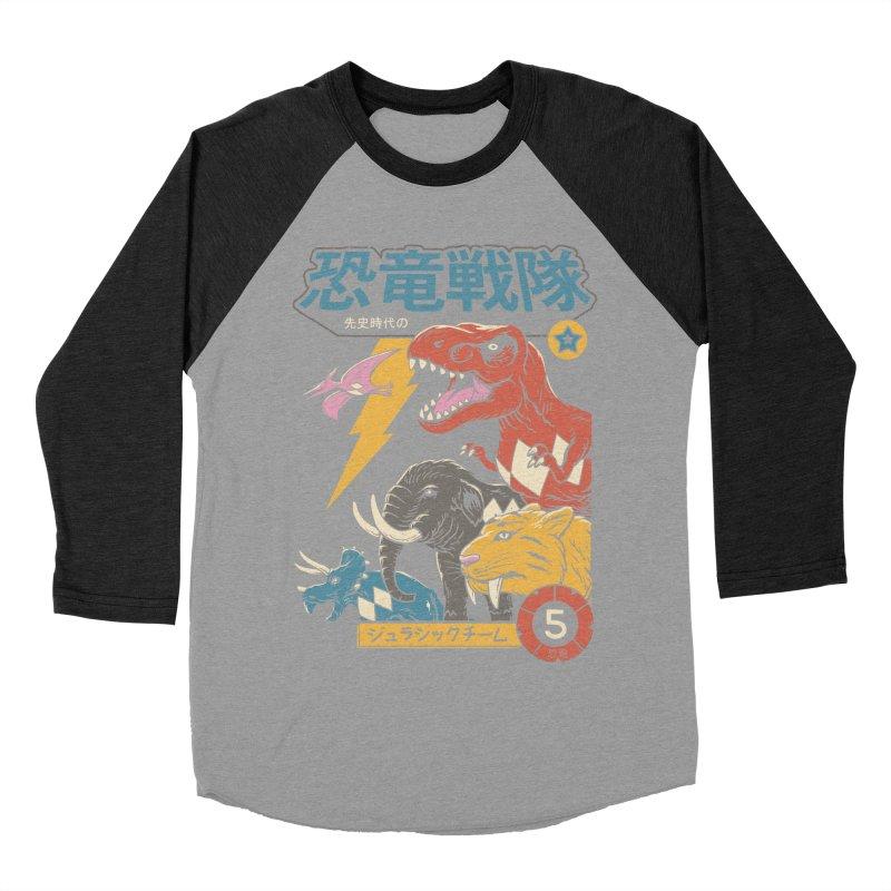 Dino Sentai Men's Baseball Triblend Longsleeve T-Shirt by Vincent Trinidad