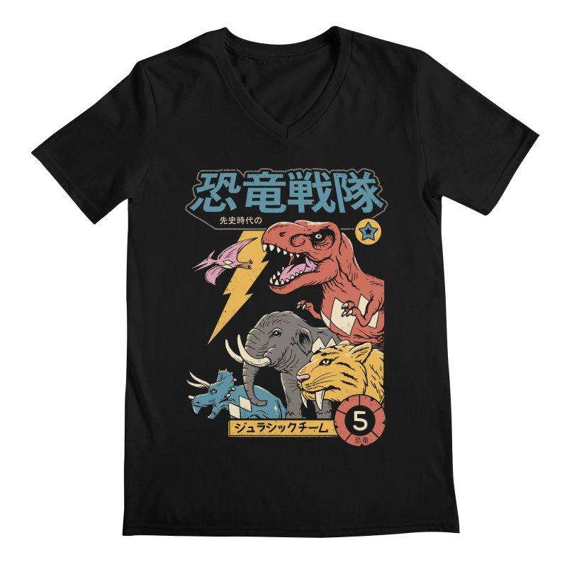 Dino Sentai Men's Regular V-Neck by Vincent Trinidad