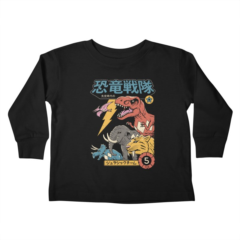 Dino Sentai Kids Toddler Longsleeve T-Shirt by vincenttrinidad's Artist Shop