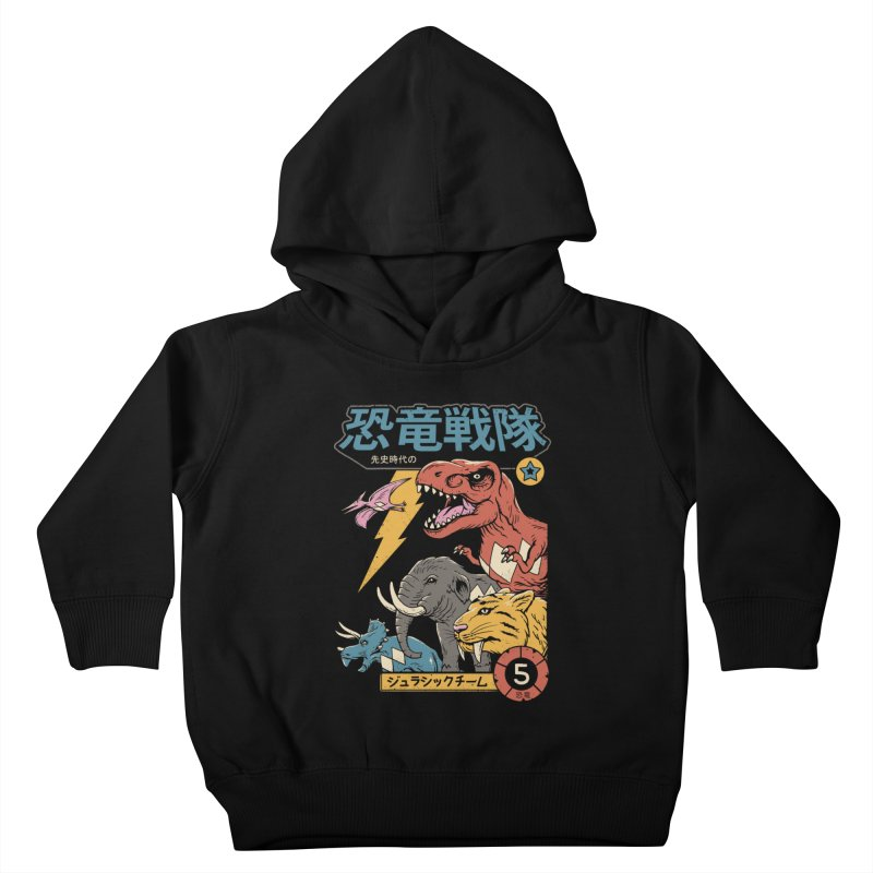 Dino Sentai Kids Toddler Pullover Hoody by Vincent Trinidad